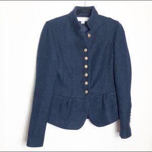 Boston Proper jacket peplum tweed